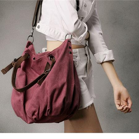 DHH Canvas Shoulder Bag in Red | Women Shoes & Bags Fashion Online ...